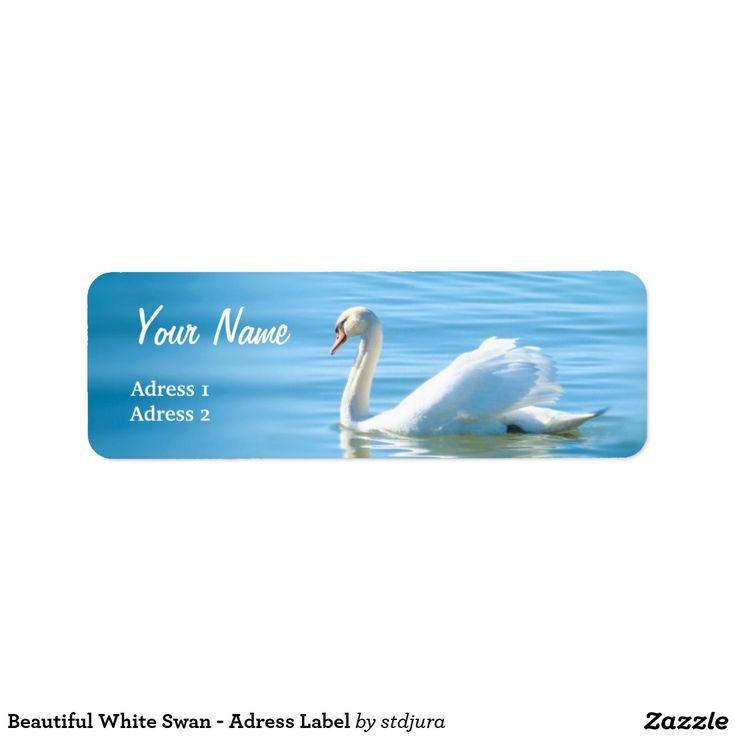 Beautiful White Swan - Adress Label Return Address Label