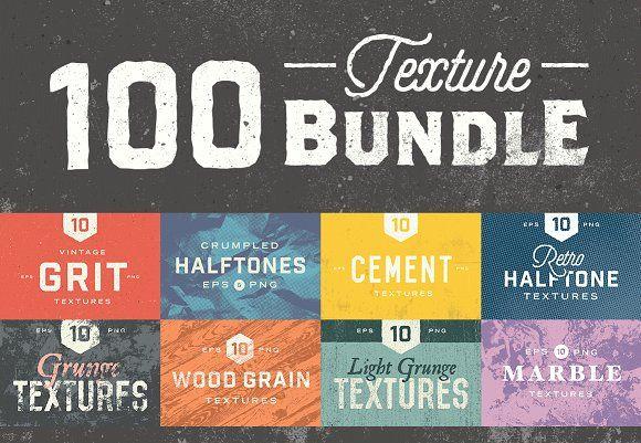 100 Texture Bundle by GhostlyPixels on @creativemarket