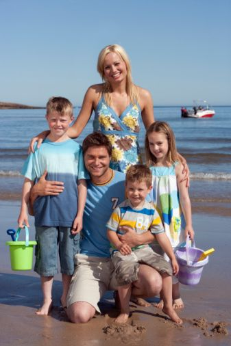 Family Beach Pose 3 maybe all the kids with beach buckets