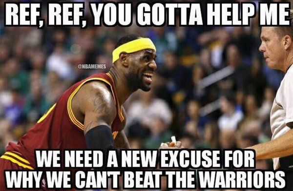 RT @NBAMemes: No Christmas gifts for you, LeBron James. #GetOwned.  #Cavs #Warriors - http://nbafunnymeme.com/nba-funny-memes/rt-nbamemes-no-christmas-gifts-for-you-lebron-james-getowned-cavs-warriors