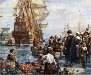 Image result for the pilgrims go ashore for the first time