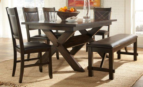 Piece Rusti Wood Kitchen Tables And Chairs