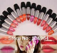 2014 nuevo lápiz labial de alta calidad Marca de maquillaje cosmético Lustre Larga Duración Barras de labios color nude 15 colores Envío Gratis