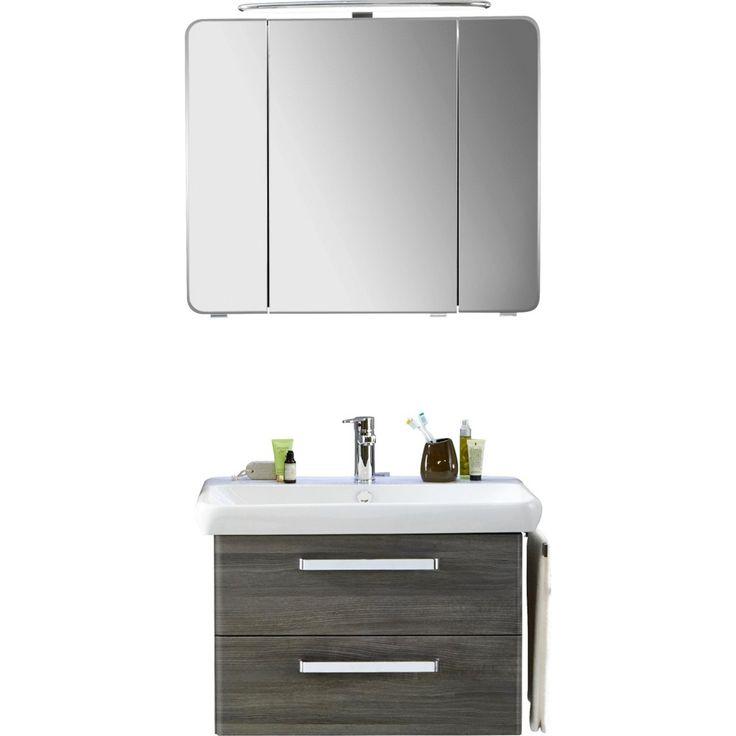 Good Badezimmerset Casi teilig Hochglanz Wei Grau Home Interior Bathroom Pinterest