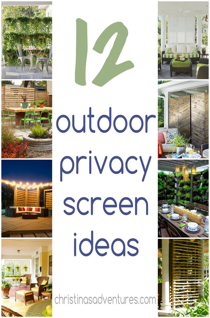 12 outdoor privacy screen ideas #patio #deck #outside