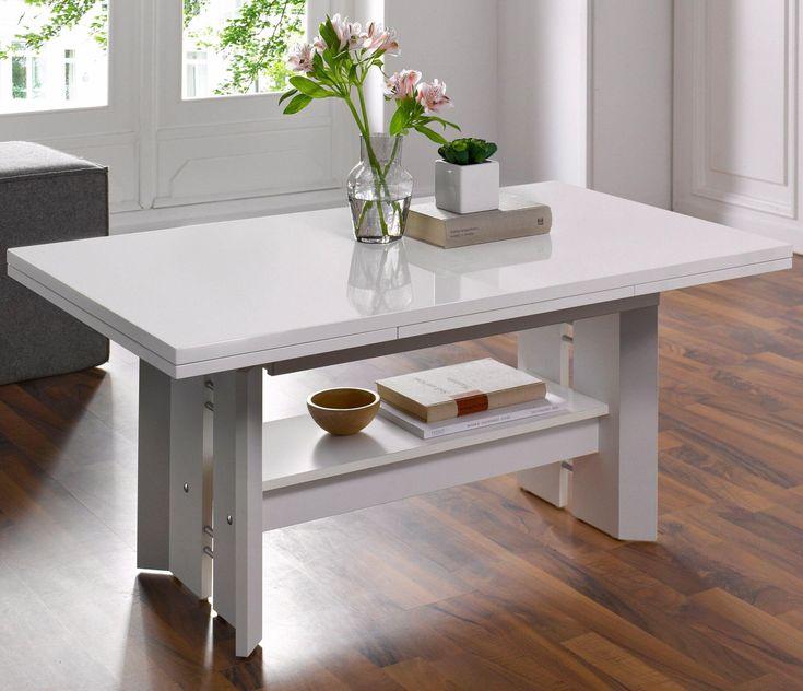 Couchtisch Weiß, Ausziehbar Und Höhenverstellbar, Rechteckig, Yourhome  Jetzt Bestellen Unter: Https://moebel.ladendirekt.de/wohnzimmer/tische/ Couchtische/? ...