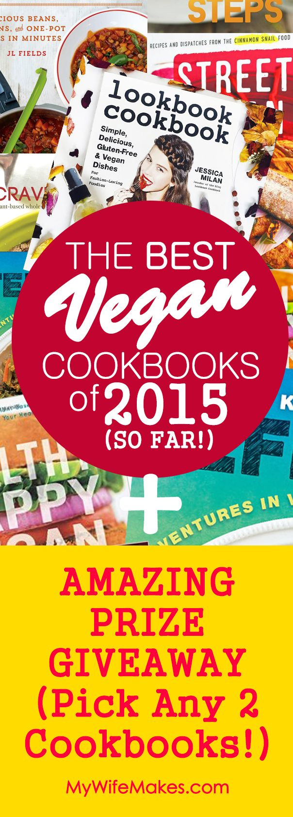 Our review of 8 of the BEST Vegan Cookbooks of 2015.