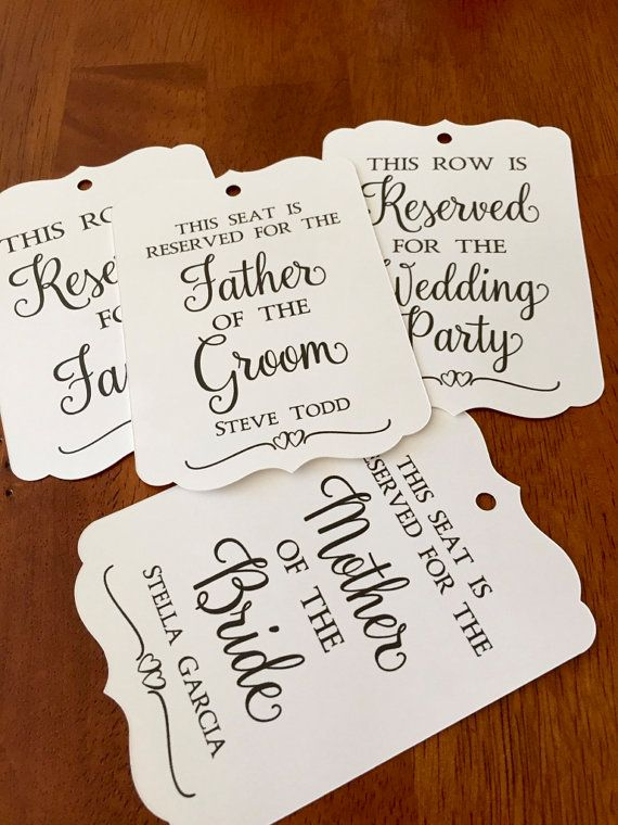 Personalized Reserved Seat Tags,Reserved Chair Tags,Reserved Seating Tags,Reserved Row Tags