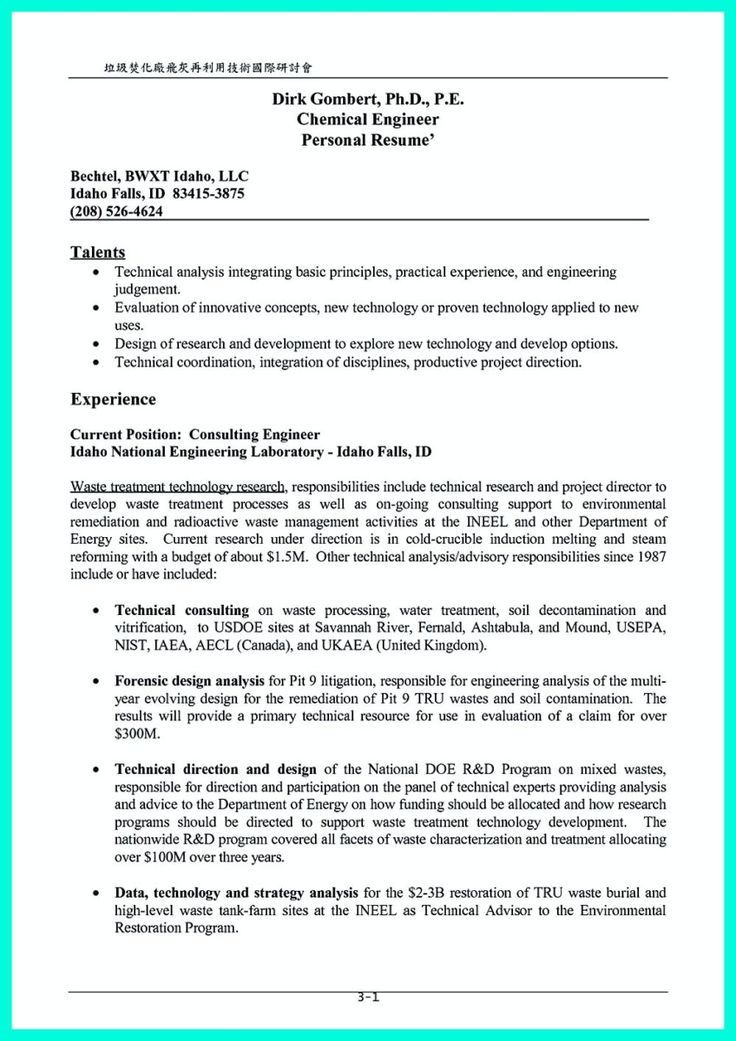 The 25+ best Engineering internships ideas on Pinterest - chemical engineer resume sample