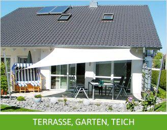 » Sonnensegel für Terrasse, Garten, Teich