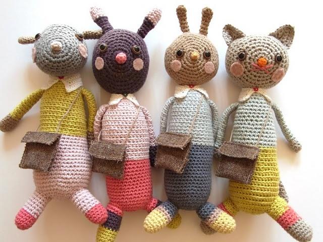 crochet creaturesCrochet Dolls, Crochet Toys, Diy Crafts, The Small, Crochet Animal, Animal Friends, Kids, Stuffed Animal, Amigurumi