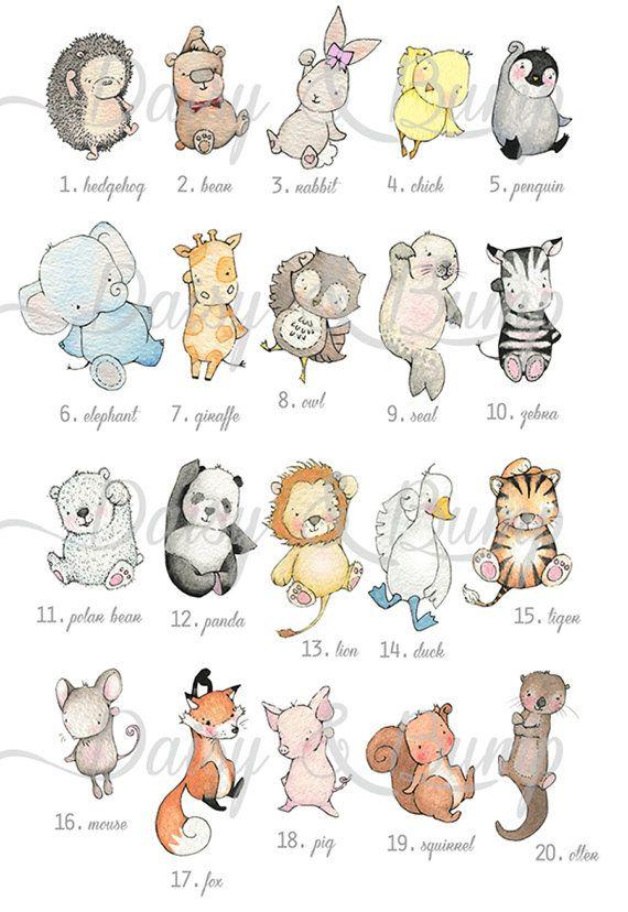 Ballon Bild, UNGERAHMT Kid's Wall Art, grau, Panda, minimal, modern, Unisex, Kinderzimmer Kunst, Malerei, Aquarell Print, neues Baby-Geschenk   – Drawing