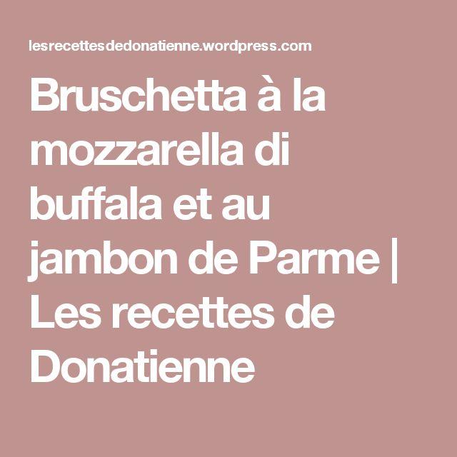 Bruschetta à la mozzarella di buffala et au jambon de Parme | Les recettes de Donatienne