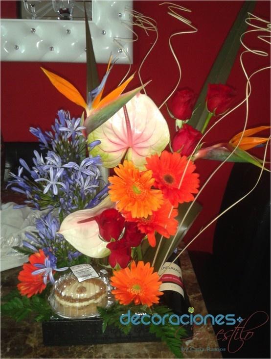 103 best flores naturales y artificiales images on - Arreglo de flores naturales ...