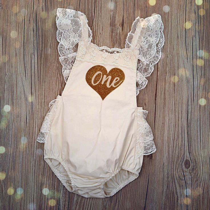 Baby Girl Romper 1ST Birthday Outfit With Matching Crown Headband Super Cute Lace One Piece by CaughtYACreations on Etsy https://www.etsy.com/listing/483141068/baby-girl-romper-1st-birthday-outfit