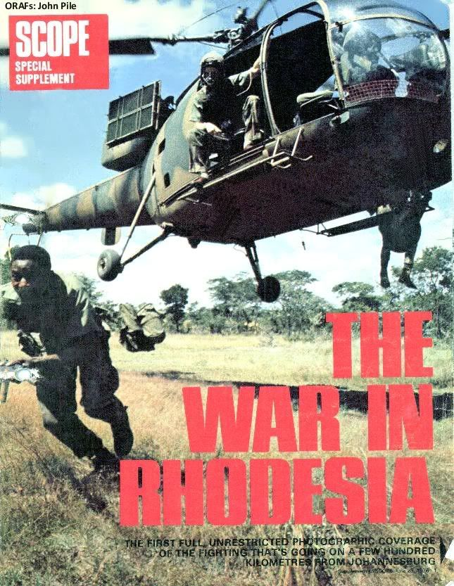 Front cover of Scope magazine article on the war in Rhodesia
