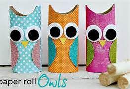 Toilet paper roll-owl.