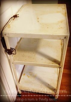 Mid Century 3-Tier Vintage Metal Cart Makeover