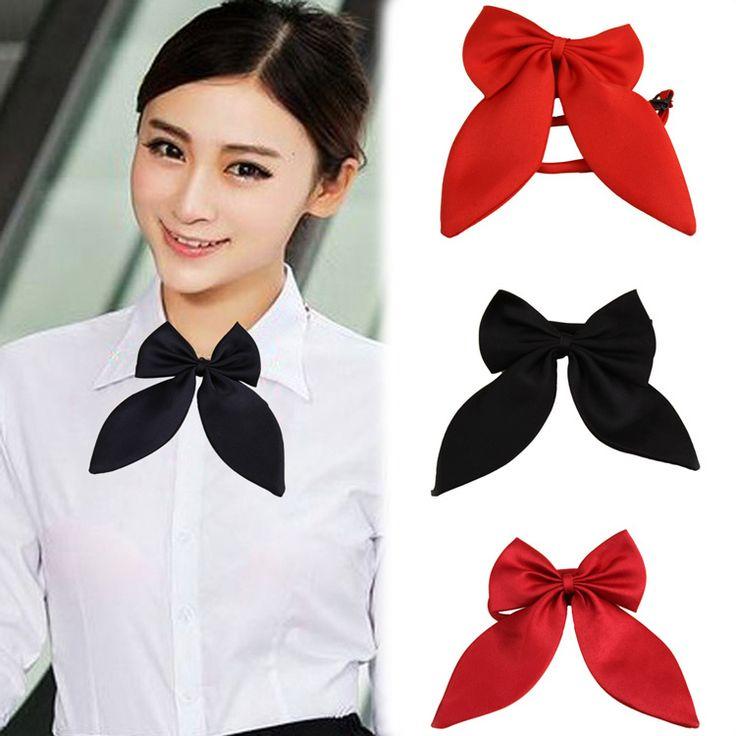 2015新しいホット販売ファッション女性女の子かわいいパーティー調整可能な弓ネクタイ4色ドロップ配送