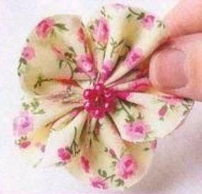 PAP Flores con retazos de tela ~ Solountip.com