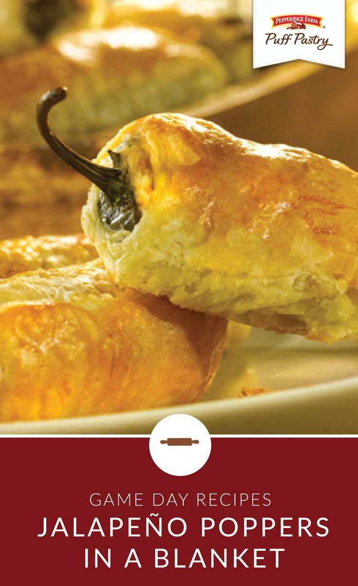 Your game day party just got a lot more fun thanks to this easy recipe for Jalapeño Poppers in a Blanket. Guests are sure to enjoy this Pepperidge Farm® Puff Pastry appetizer recipe as they cheer for their favorite team.