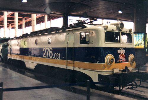 Renfe-Alstom 276-031 @ Madrid - Puerta de Atocha. 22 de Agosto de 1998