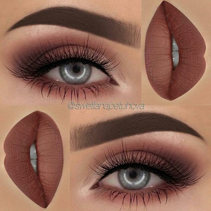Perfect Thanksgiving Burnt Umber Lip & Eye Shadow Combination
