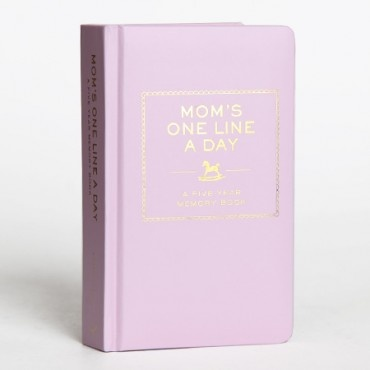 I have one of these journals and it's the best idea ever.  I'm now into year 3 and I love looking back each day to read about life then.....when I was pregnant, funny things my daughter has said, etc.  So easy to keep up with - jot a line a day!