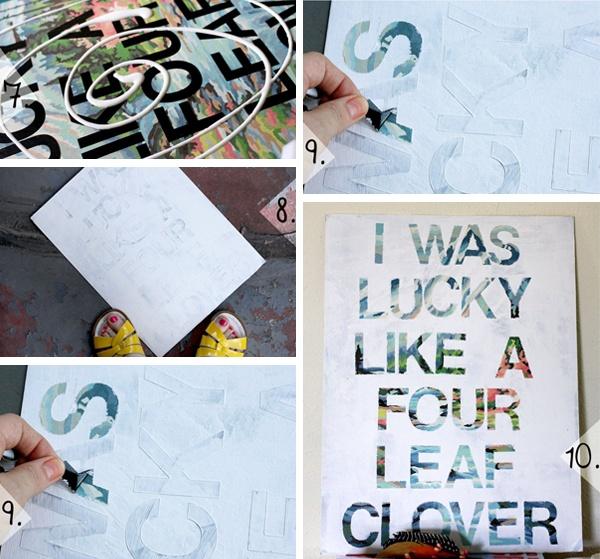 (II) DIY - Poster Word Art | Estudio Bix    Aquela pintura de sua preferência. 2. Letras adesivas de Vinil (aquele mesmo material de plotagem). 3. Tinta branca, tesoura e verniz em Spray. 4. Quadro com moldura fofinha.