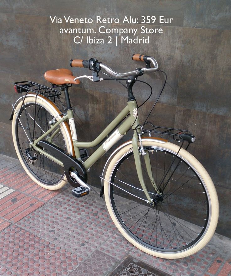 bicicleta clasica en color verde avantum company store madrid