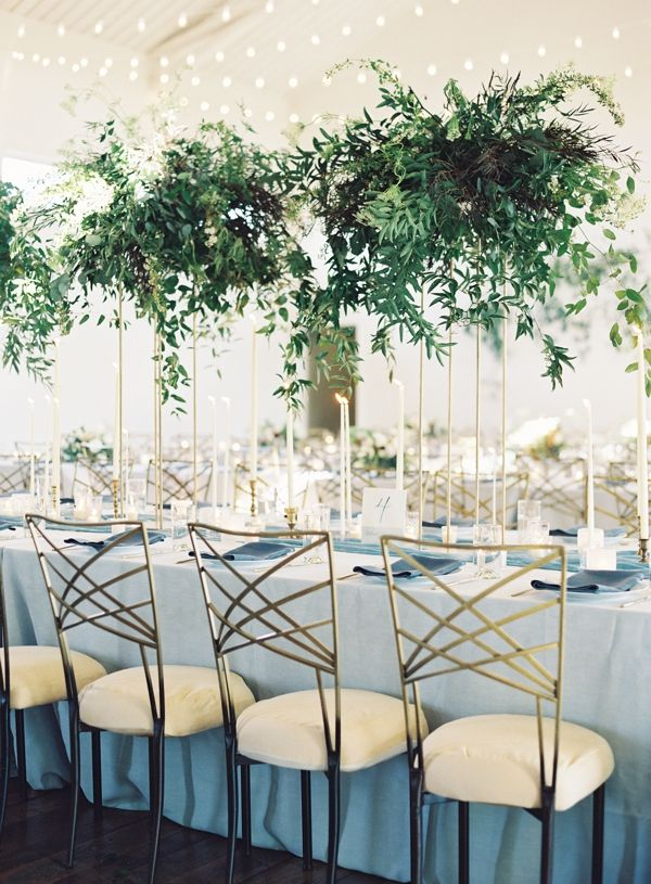 A dramatic wedding reception table created by Jessica Sloane Events, Tennessee