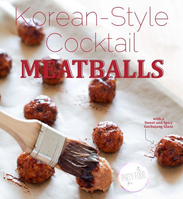 korean-style-cocktail-meatballs: Cocktails Meatballs, Style Cocktails, Meatballs Recipes, Father Day, Fathers Day, Father'S Day, Korean Style, Gluten Free, Appetizer