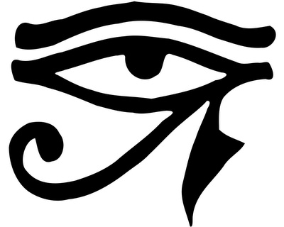 The eye of Horus (or Ra's symbol) my next tattoo. Thinkin behind the ear...ouch!