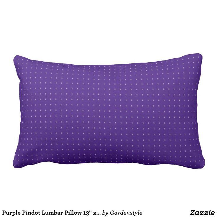 """Purple Pindot Lumbar Pillow 13"""" x 21"""" Outdoor Fabric"""