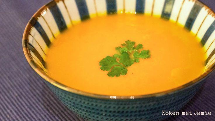 Wortelsoep met sinaasappel & gember