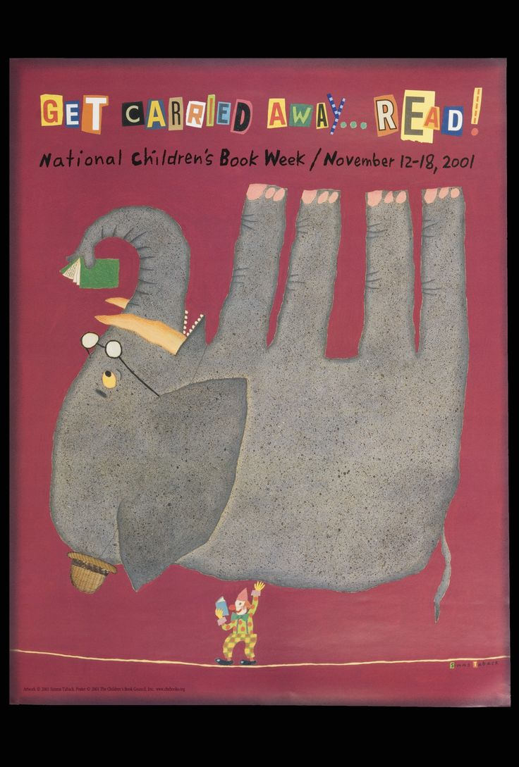 Official Children's Book Week poster, 2001, Simms Taback (1932-2011)