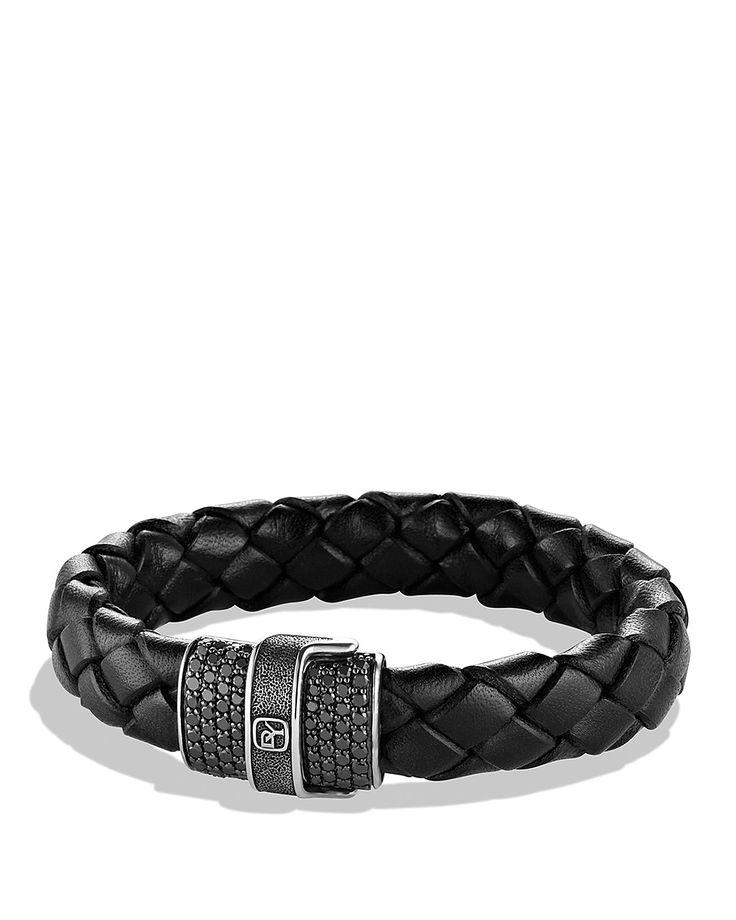 David Yurman Pavé Bracelet in Black with Black Diamonds #mens