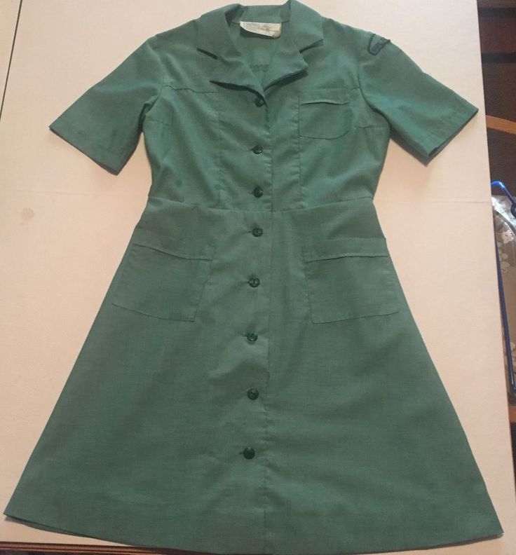 Uniform Shirt Dress 60S GIRL SCOUTS OF AMERICA BROWNIE PATCH BADGE  #atomicenterprises