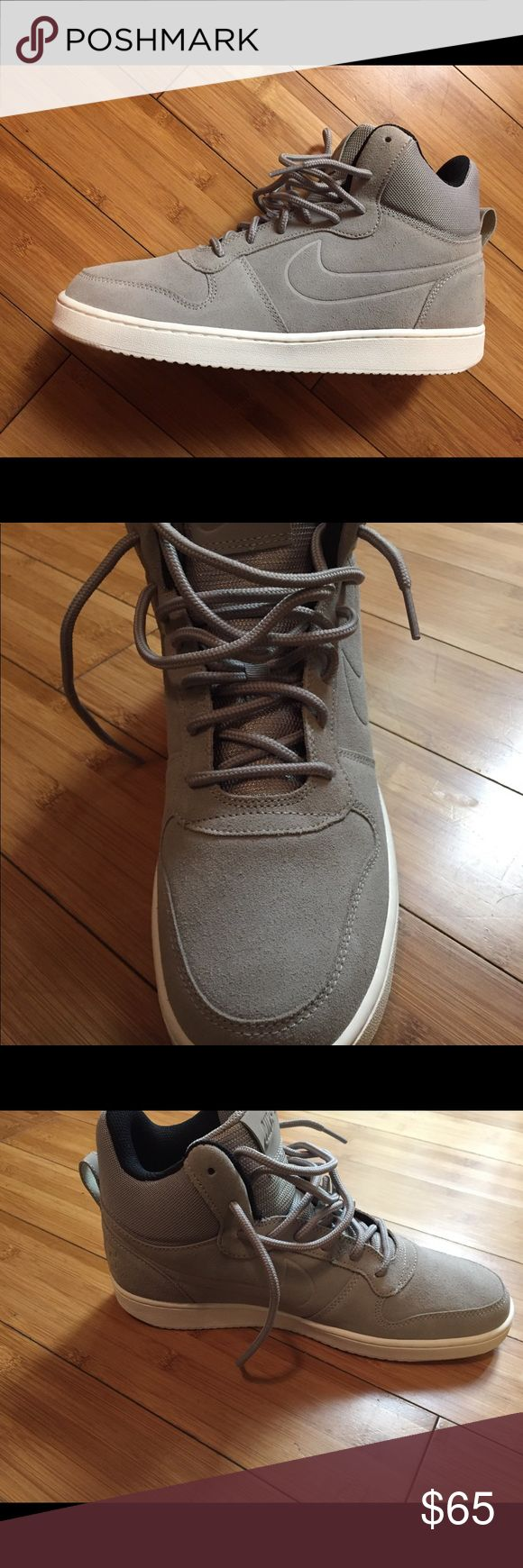 Gray Nike hightops suede material Brand new Nike Shoes