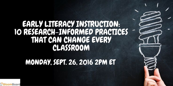 "Join Naomi Norman, assistant superintendent at Washtenaw Intermediate School District, Nell K. Duke, professor of literacy, language, and culture at the University of Michigan, and Susan Townsend, director of instruction and learning services at Jackson County Intermediate School District, for their ""Early Literacy Instruction: 10 Research-Informed Practices That Can Change Every Classroom"" webinarMonday, Sept. 26, 2016 2 to 3 p.m. ET"