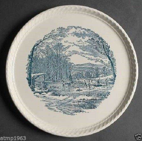 Currier and ives cake plate 15 99