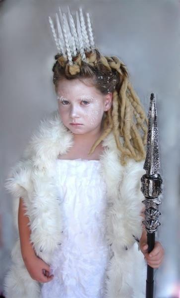 Новогодний костюм герды из сказки снежная королева для детей