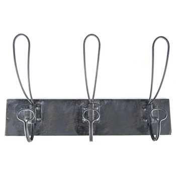 Black Triple Retro Iron Wall Hooks