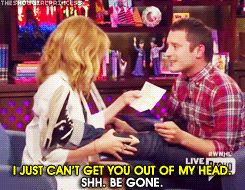 "The time Kylie Minogue and Elijah Wood reenacted Lord Of The Rings fan fiction. | The 54 Most Iconic Moments In Five Years Of ""Watch What Happens Live"""