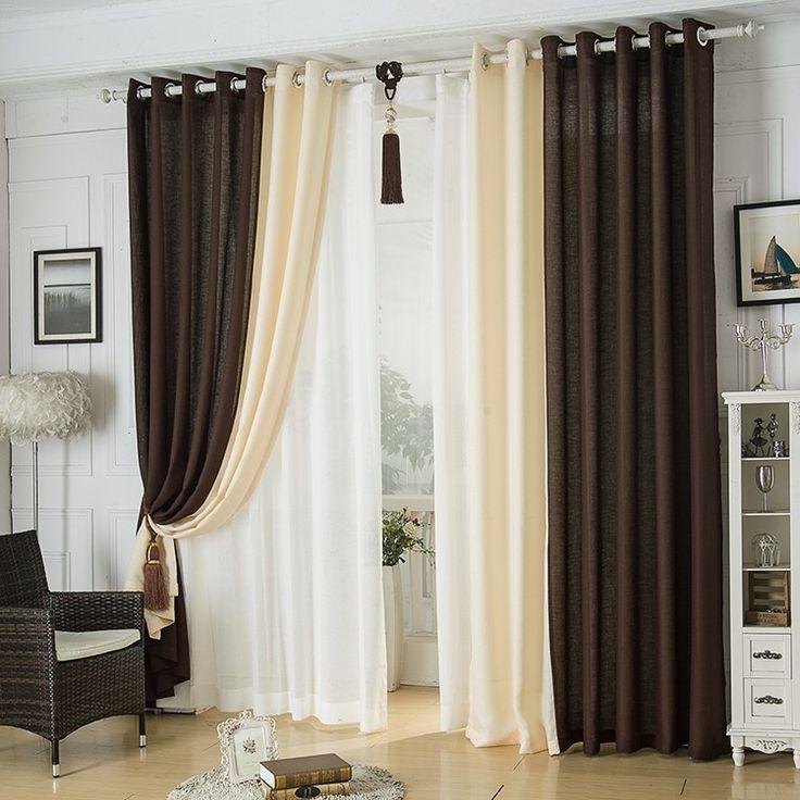 17 melhores ideias sobre cortinas de linho no pinterest for Cortinas transparentes