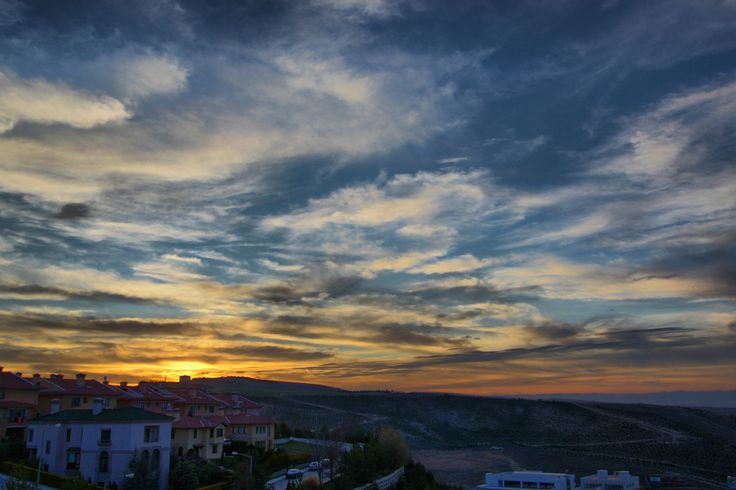 Beautiful sunset in Ankara