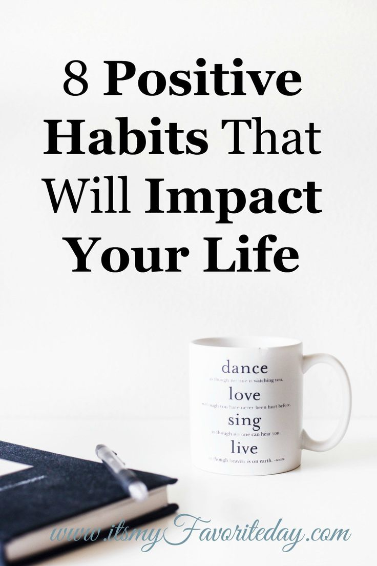 Great perspective on the need to replace bad habits with positive habits. Love the 8 habits talked about, got the ideas flowing. Repin this for sure!