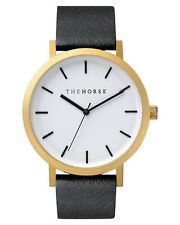 ebay| The Horse watch Brushed Gold Black Leather (sold out everywhere)