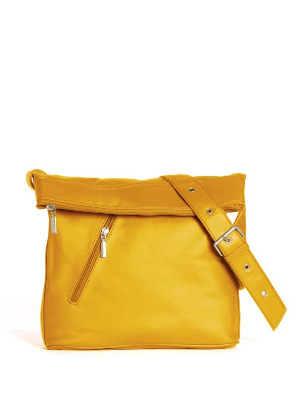 City Bag - Deep Yellow - Sticks and Stones - Leather Fashion Amsterdam