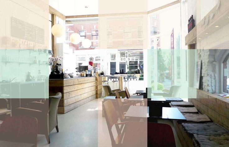 Booon Rotterdam noord centraal station italiaanse koffie broodjes bloedsinaasappelsap wijn kaas en worst. Langzame bediening wel erg lekker
